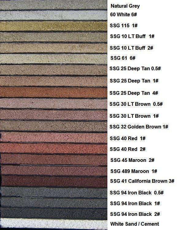 Mortar Color Range